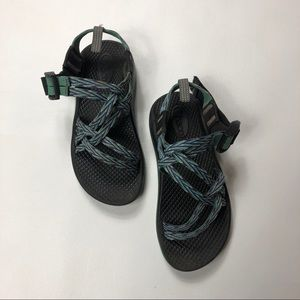Z Strap Chaco Sandals Blue Green White and Purple
